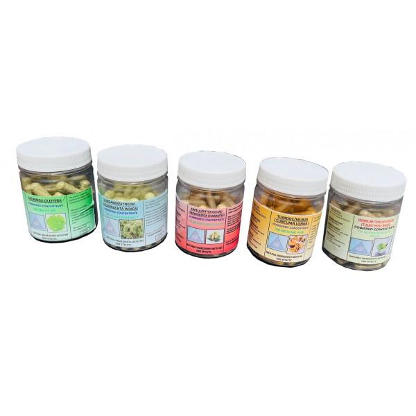5 pack Organic Multivitamin Capsules- 60 capsules ...