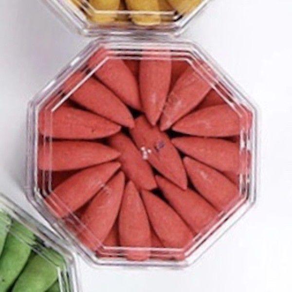 75 piece Back Flow Burner Incense Cones LEMON
